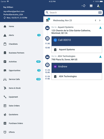 Скриншот из Coresystems Field Service