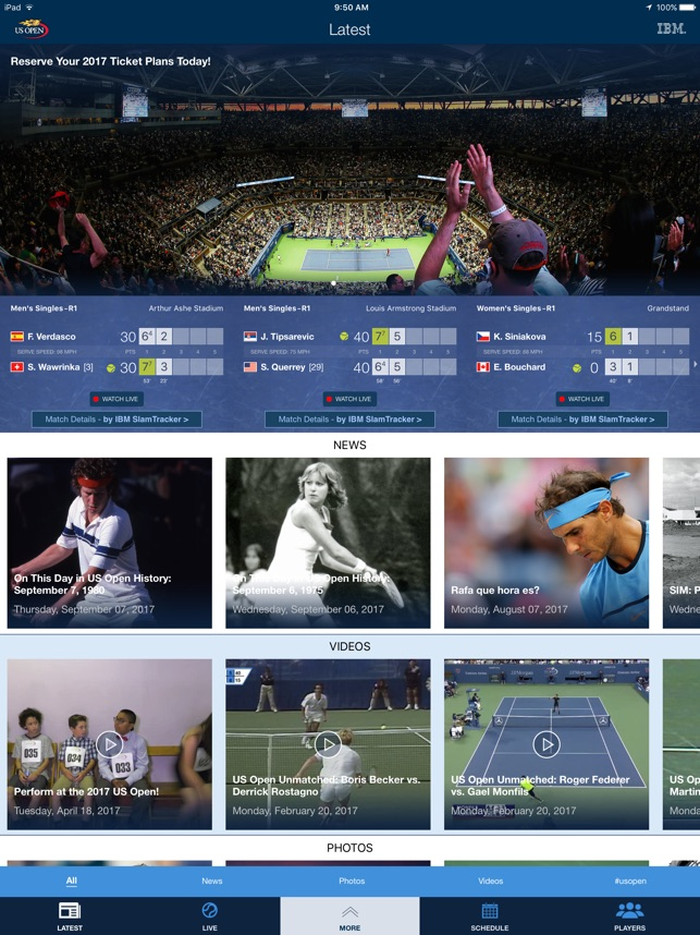 2017 US Open Tennis Championships Screenshot