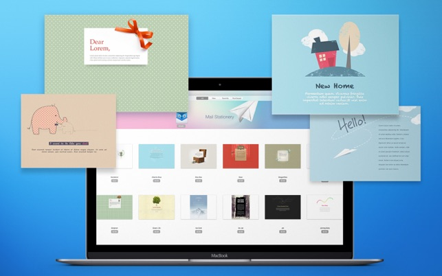 Using Apple Mail Stationery