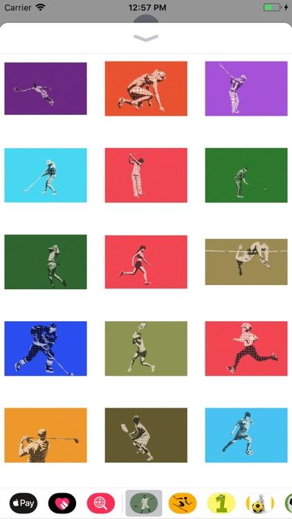 Athlete Pictogram Sticker Pack screenshot-3
