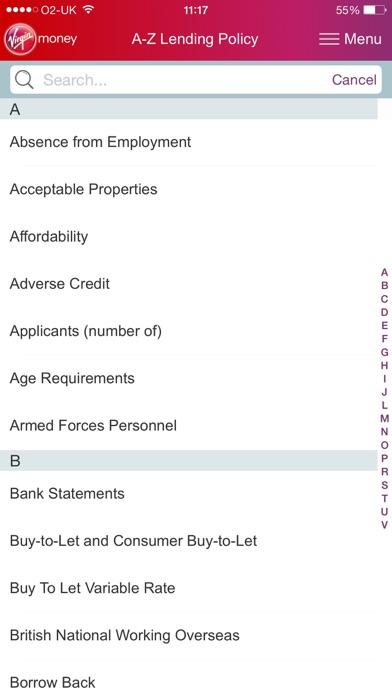 Virgin Money Lending Policy screenshot three