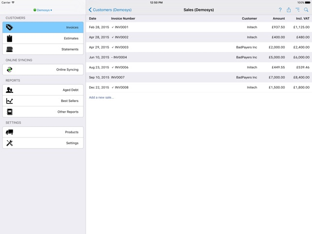 Easy Invoice On The App Store - Make an invoice in word tobacco online store