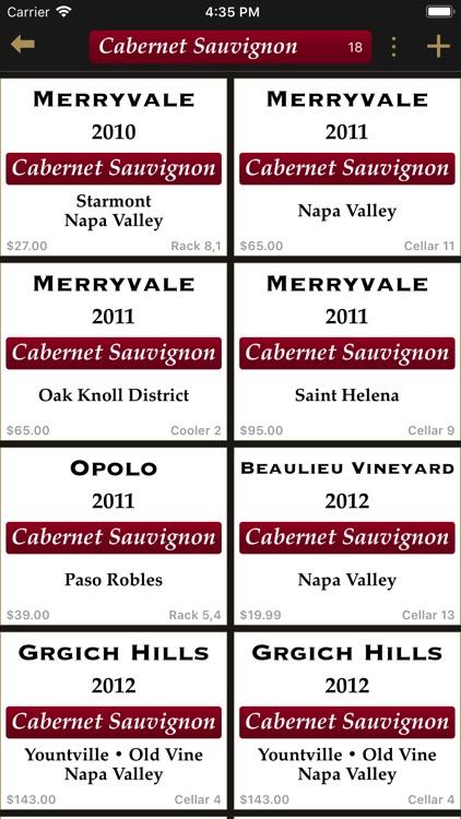 Bottles - Wine Cellar Manager