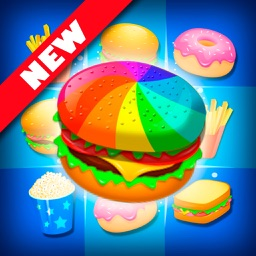 Match 3 Burger HD: Delicious Food Mania