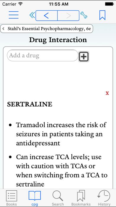 Prescriber's Guide, Stahl, 6e Screenshot