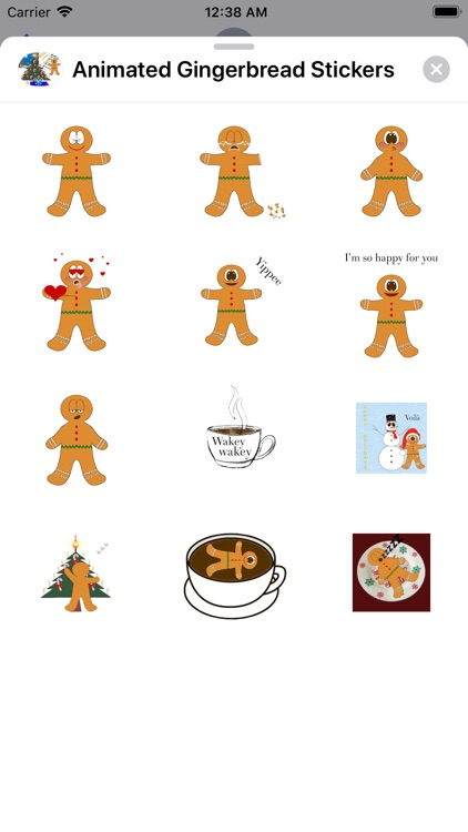 Animated Gingerbread Stickers screenshot-4