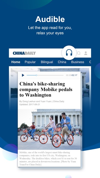 China Daily review screenshots
