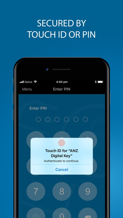 ANZ Digital Key Screenshot