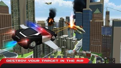 フライングコップカーシミュレーター3D - エクストリーム刑事警察車運転と飛行機のフライトパイロットシミュレータのおすすめ画像2