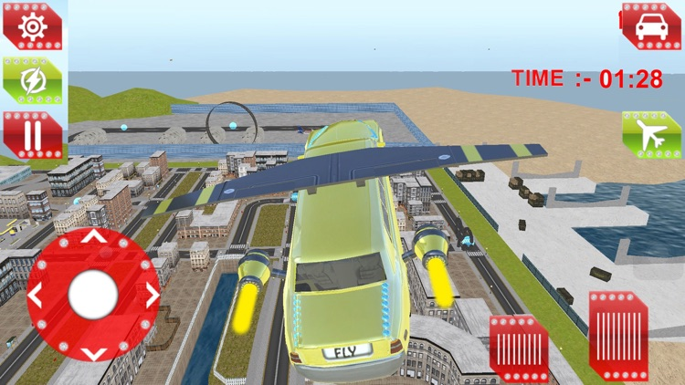 Flying Limo Driving simulator 2016 screenshot-3