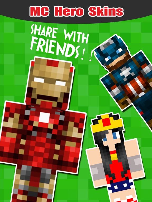 SuperHero Skins Pro - Export Skin for MineCraft Pocket Edition на iPad
