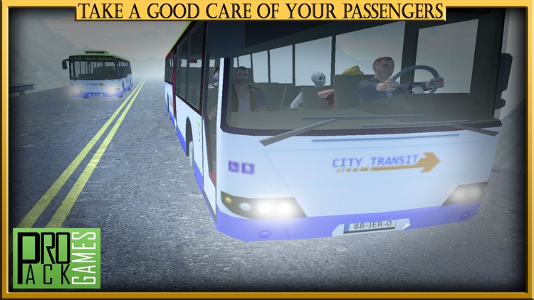Mountain Bus Driving Simulator Cockpit View - Dodge the traffic on a dangerous highway screenshot-3