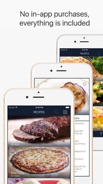 Keto diet recipes: low carb weight loss recipe book for Ketogenic diet screenshot-4