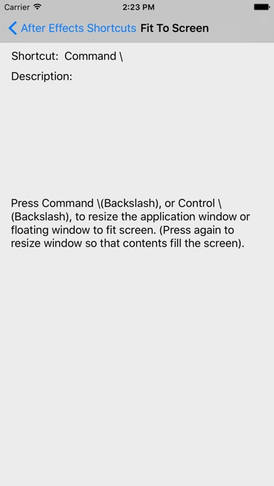Screenshot for Shortcut: After Effects Edition in United States App Store