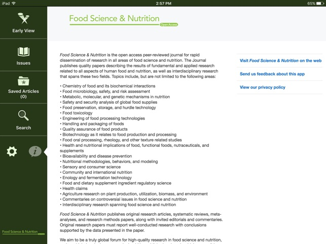 app store a c food science nutrition