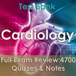 Cardiology Test Bank & Exam Review App - 4700 Flashcards Study Notes - Terms, Concepts & Quiz