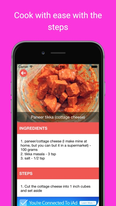 Indian food recipe videos: Cook healthy rice Rotti screenshot two