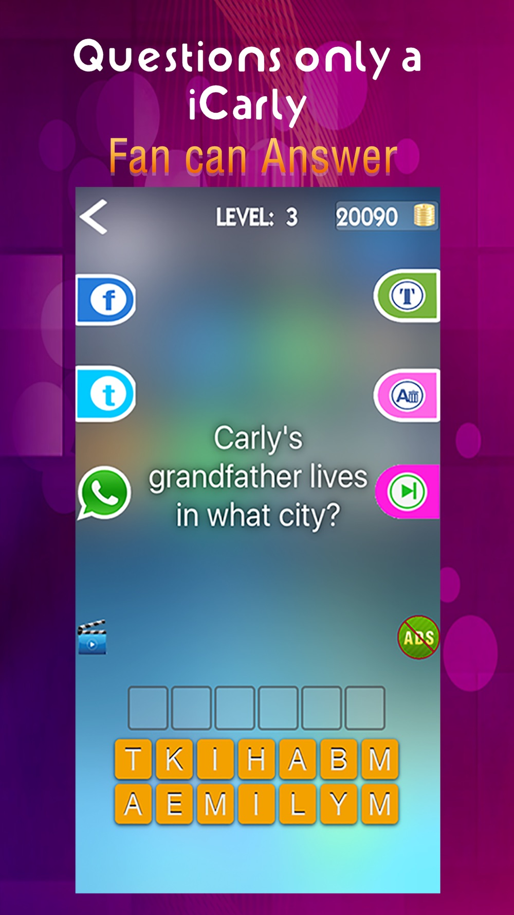 Ultimate Trivia App –for I iCarly Fans and Free Quiz Game hack tool