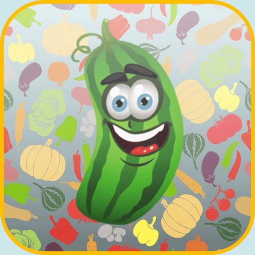 fruits and vegetables - crazy match game