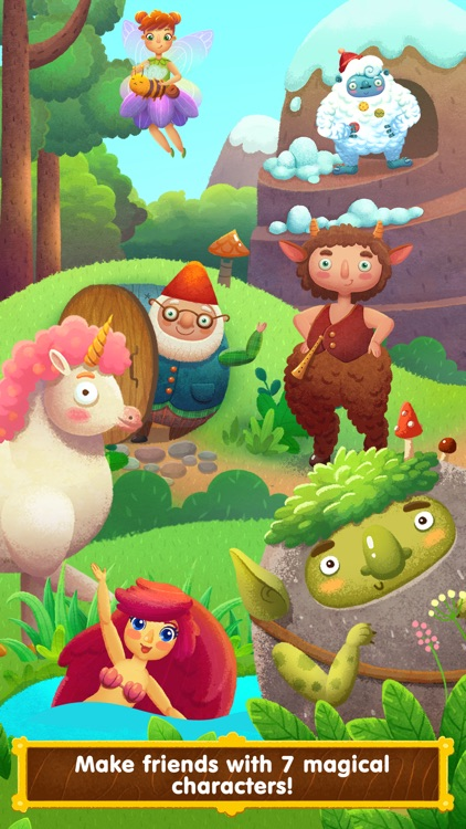 Wonderland - learn how fairy-tale creatures live (game for kids) screenshot-0
