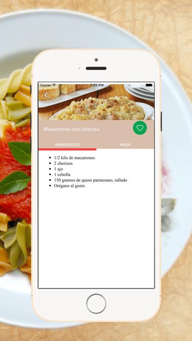 Recetas de Pastas screenshot three