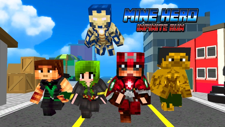 Super-Hero Blocky Craft Avenger Run 3D