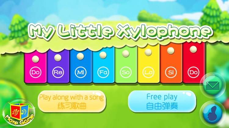 Kids little toy Xylophone - free baby music games