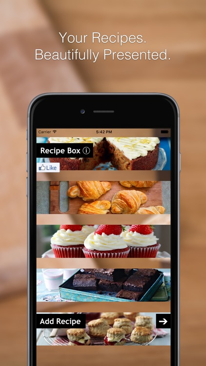 Recipe Box - Your Recipe Cook Book in your pocket, get to your recipes when cooking or baking in the kitchen! screenshot-0