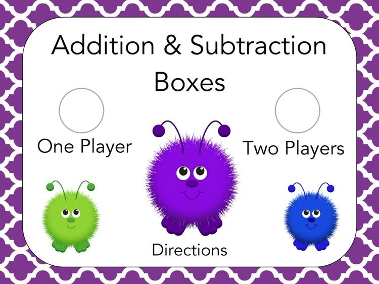 Addition & Subtraction Boxes: School Version screenshot-3