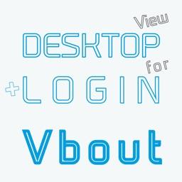 DESKTOP VIEW + LOGIN for VBout
