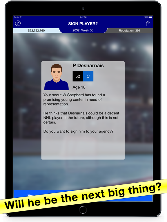 Hockey Agent: Team Manager sim screenshot