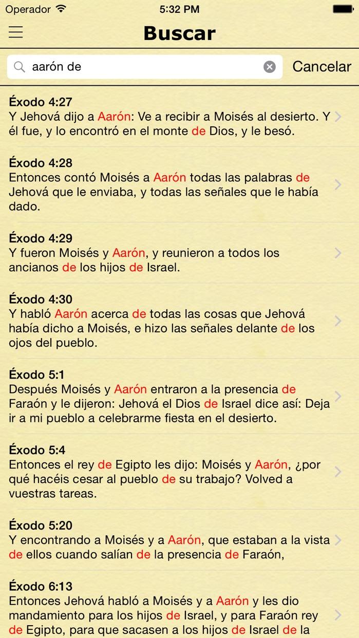 La Biblia Reina Valera en Español - Spanish Bible Screenshot