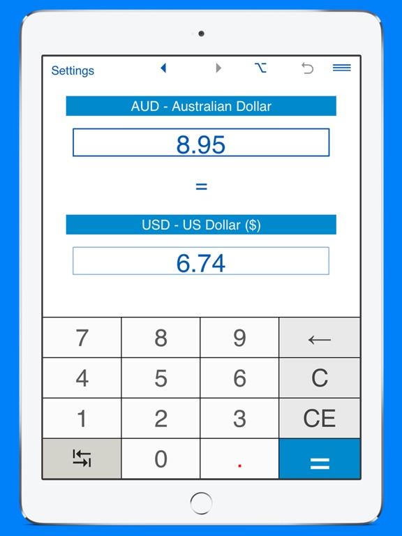 Screenshot 1 For Us Dollars To Australian Converter