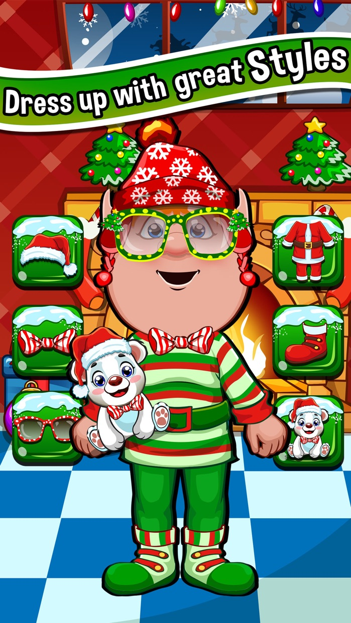Christmas Salon Spa & Hair Makeover Games for Kids Screenshot