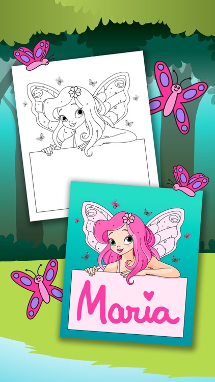 Fairy Coloring Book – Color and Paint Drawings of Fairies Educational Game for Kids Premium screenshot-3