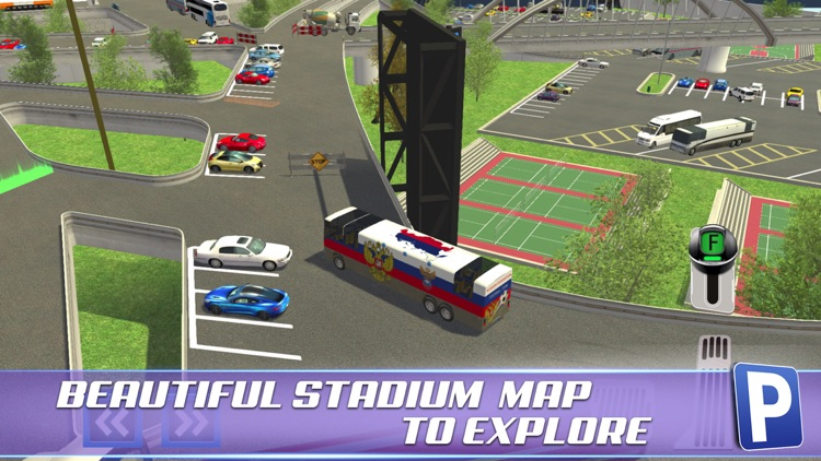 Soccer Stadium Sports Car & Bus Parking Simulator 3D Driving Sim screenshot-4