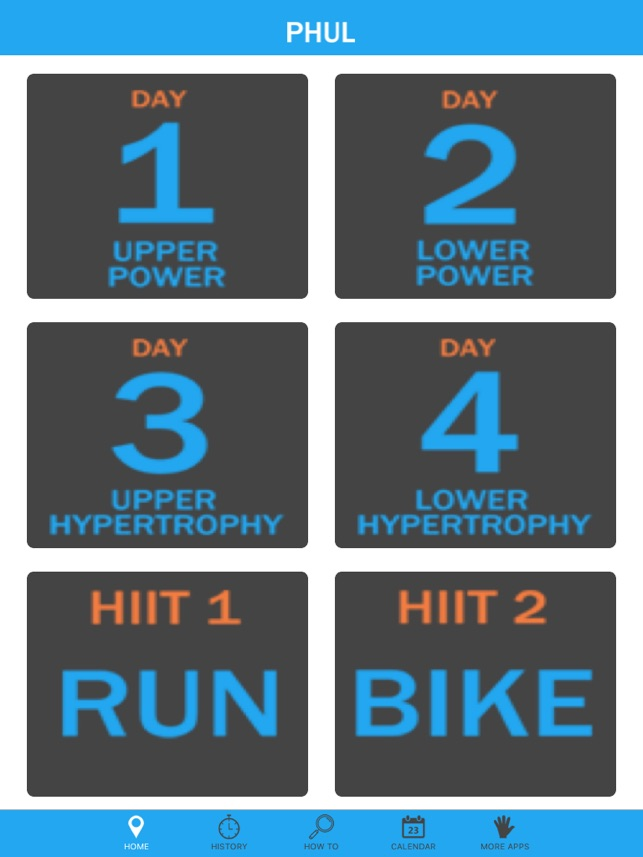 PHUL - The 4 day split workout designed for building muscle