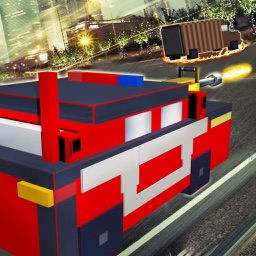 Blocky Road Fury - Free Car racing & shooting Game