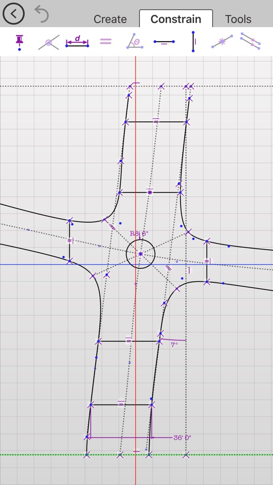 Updraw - create 2D CAD drawings with dimensions App for iPhone