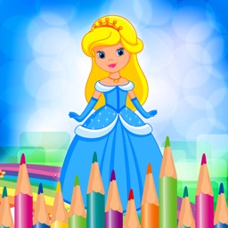 World Coloring Page Princess Game for Girls