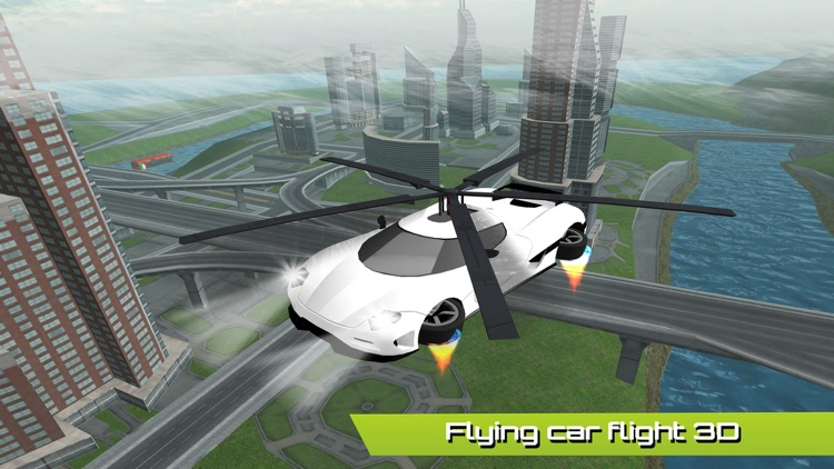Flying Car Futuristic Rescue Helicopter Flight Simulator - Extreme Muscle Car 3D screenshot-3