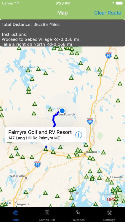 Maine – Camping & RV spots