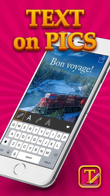 Text on Pics Photo Editor – Add Cool Captions to Pictures for Inspirational Wallpapers