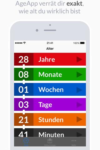 AgeApp screenshot 1