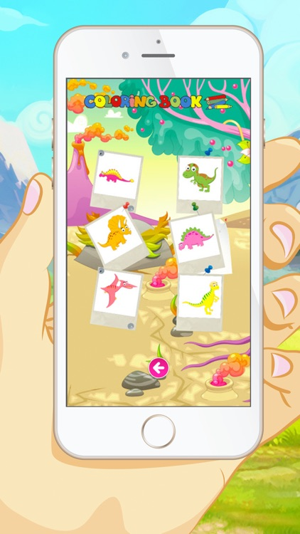 Dinosaur Coloring Book -  Educational Color and  Paint Games Free For kids and Toddlers screenshot-4