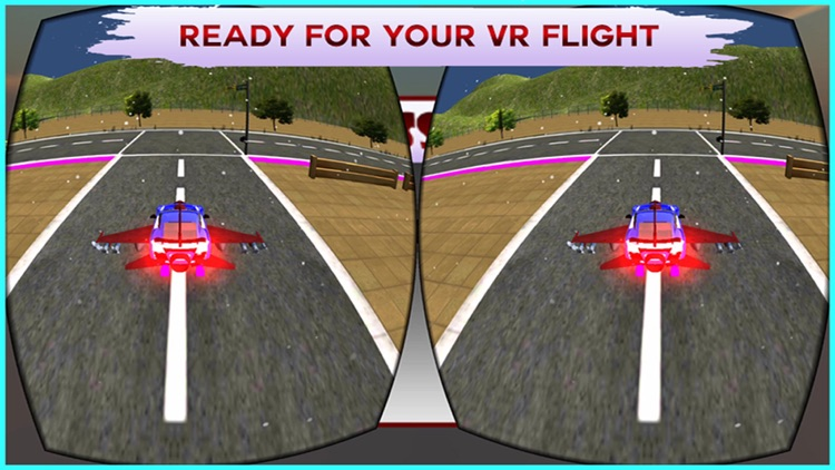 VR Flying Car Flight Simulator Pro - The best game for google cardboard Virtual Reality screenshot-3