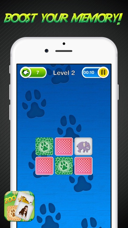 Zoo Memory Game – Animal Cards Matching Challenge for Learn.ing and Brain Train screenshot-3