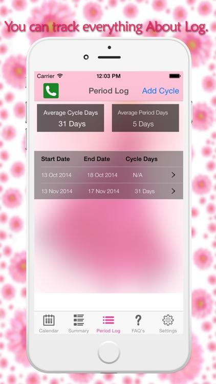 Menstrual Period Tracker - Fertility & Ovulation Tracker and Period Calendar screenshot-3
