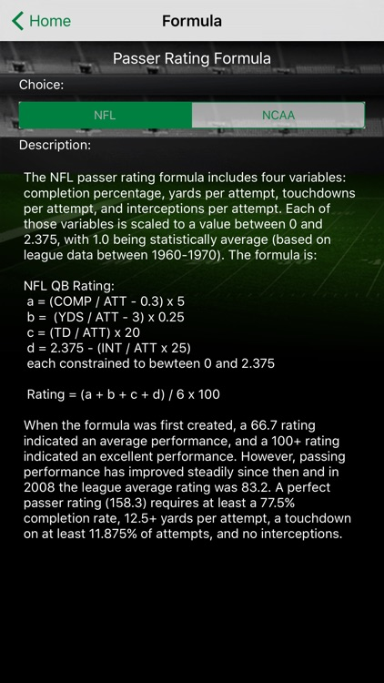 QB Rating PlayByPlay