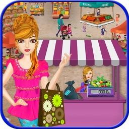 Village Supermarket Shopping Girl – Cash Register Time Management Grocery Shop